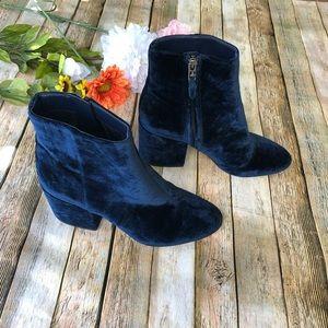Sam Edelman velvet block heel boots